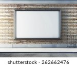 horizontal blank billboard on... | Shutterstock . vector #262662476