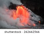 Hot Lava Stream Is Flowing Int...