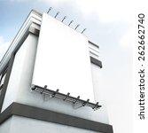 billboard on a building | Shutterstock . vector #262662740
