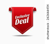 exclusive deal red vector icon...   Shutterstock .eps vector #262666454