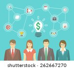 modern flat illustration of the ... | Shutterstock . vector #262667270