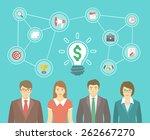 modern flat illustration of the ... | Shutterstock . vector #262667270