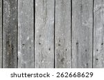 wooden wall of the old boards | Shutterstock . vector #262668629