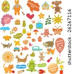50 holidays elements | Shutterstock .eps vector #26267116