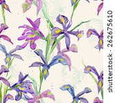 floral seamless texture of... | Shutterstock . vector #262675610