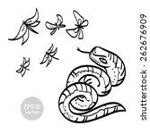snake butterflies and... | Shutterstock .eps vector #262676909