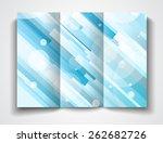 vector tri fold brochure... | Shutterstock . vector #262682726