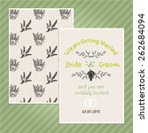 double sided vintage invitation ... | Shutterstock .eps vector #262684094