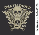 motorcycle label | Shutterstock .eps vector #262689980