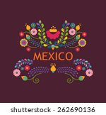 mexico flowers  pattern and... | Shutterstock .eps vector #262690136