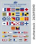 international maritime signal... | Shutterstock .eps vector #262693040