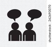 people talk icon | Shutterstock .eps vector #262693070