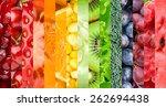 healthy food background.... | Shutterstock . vector #262694438