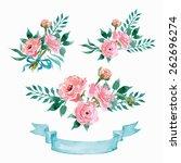 vector flowers set. colorful...   Shutterstock .eps vector #262696274