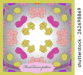 card with colored floral... | Shutterstock .eps vector #262698869