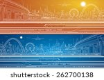 vector industrial and transport ... | Shutterstock .eps vector #262700138