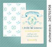 double sided vintage invitation ... | Shutterstock .eps vector #262701908