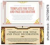 vector decorative elements for... | Shutterstock .eps vector #262708478