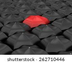 unique red umbrella with many... | Shutterstock . vector #262710446