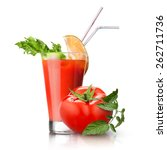 Red Tomato And Glass Of Juice...
