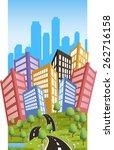 cartoon illustration of a road... | Shutterstock .eps vector #262716158