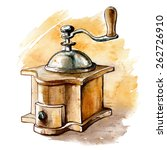 old fashioned manual coffee... | Shutterstock .eps vector #262726910