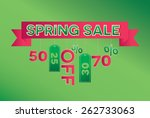 spring sale vector illustration | Shutterstock .eps vector #262733063