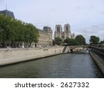 buildings on the river seine ... | Shutterstock . vector #2627332