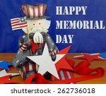 happy memorial day message... | Shutterstock . vector #262736018