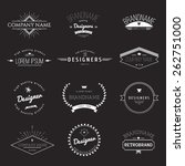 vintage logo set   retro design ... | Shutterstock .eps vector #262751000