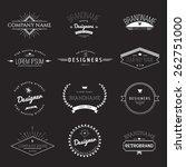 vintage logo set   retro design ... | Shutterstock .eps vector #262751000