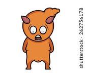 cartoon illustration of orange... | Shutterstock .eps vector #262756178
