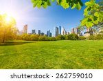 central park at sunny day  new... | Shutterstock . vector #262759010