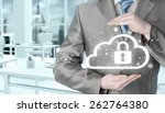 protect cloud information data... | Shutterstock . vector #262764380