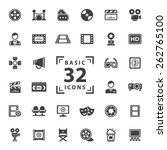 movie icons set. | Shutterstock .eps vector #262765100