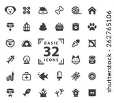 pet icons set. | Shutterstock .eps vector #262765106