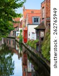 houses along the canals of... | Shutterstock . vector #262765949