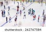 defocused of indoor ice skating ... | Shutterstock . vector #262767584