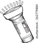 doodle sketch flashlight vector ... | Shutterstock .eps vector #262779884