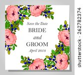 wedding invitation cards with... | Shutterstock .eps vector #262782374