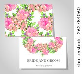 wedding invitation cards with... | Shutterstock .eps vector #262784060