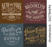 Stock vector vintage workwear graphics set 262784696
