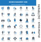 business management and human... | Shutterstock .eps vector #262789694