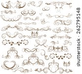 vector set of calligraphic... | Shutterstock .eps vector #262795148