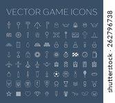 game icons set. vector line art ... | Shutterstock .eps vector #262796738