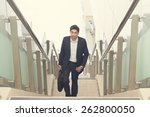 indian business male walking on ... | Shutterstock . vector #262800050