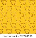 seamless pattern bears | Shutterstock .eps vector #262801598