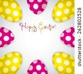 circle of easter eggs border in ... | Shutterstock .eps vector #262802528