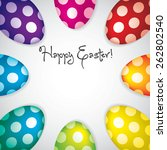 circle of easter eggs border in ... | Shutterstock .eps vector #262802540