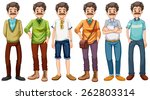 old man wearing different... | Shutterstock .eps vector #262803314